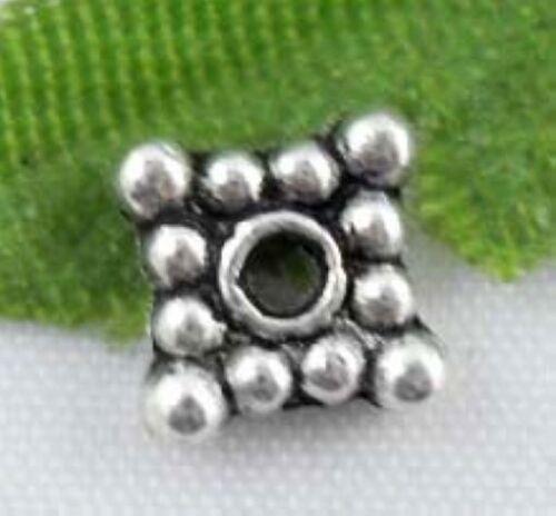 Wholesale 98//210Pcs Tibetan Silver Spacer Beads 6mm Lead-free
