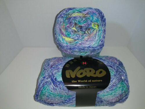 100g Noro MIRAI  #13 Lot A; VIOLET//ORCHID//TURQUOISE