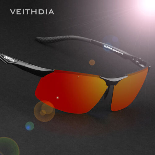 HD Polarized Aluminum Sunglasses Mens Outdoor Sport Driving Mirrored Sun Glasses