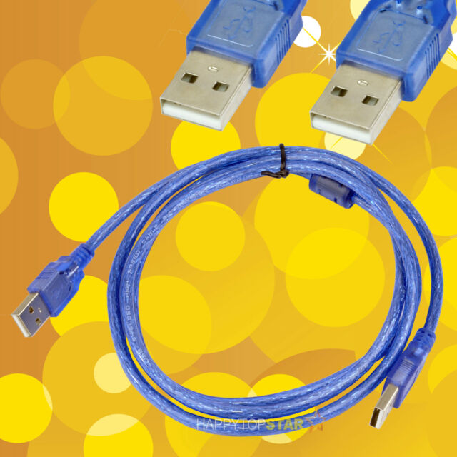 1.5m 5FT USB 2.0 A Male to Male Double Dual Male Data Transfer Charge Cord Cable