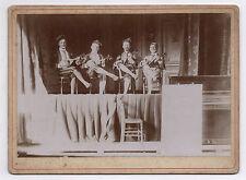 PHOTO ANCIENNE Orchestre de musique Groupe Joueur de Mandoline Guitare Vers 1900