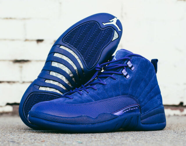 official photos 88399 9a5bc Air Jordan 12 XII Retro Deep Royal Blue Suede 130690-400 Size 12 12
