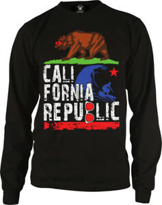 California-Bear-Grizzly-Cali-Republic-Home-State-Sunny-Long-Sleeve-Thermal