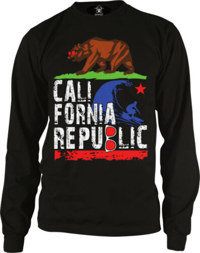 California Bear Grizzly Cali Republic Home State Sunny  Long Sleeve Thermal
