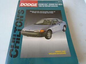 dodge colt dodge colt vista 1990 1993 chilton repair manual preowned rh ebay com 1990 Plymouth Colt 1990 Dodge Colt