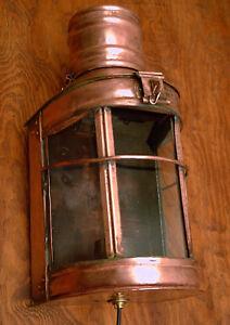 Antike Originale Vor 1945 Mobiliar & Interieur Neue Mode Lampe Laterne Bootslampe Maritim Ankerleuchte Kupfer Elektifiziert Sparen Sie 50-70%