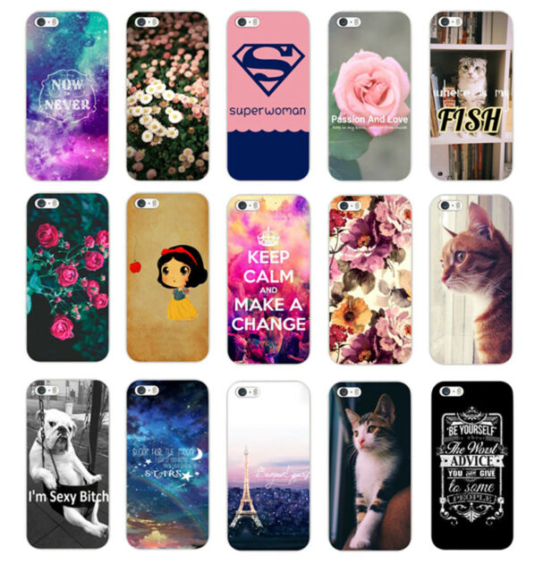 Various Fashion Pattern Hard Back Case Cover Protector For Iphone 4S 5 5S 5C 6