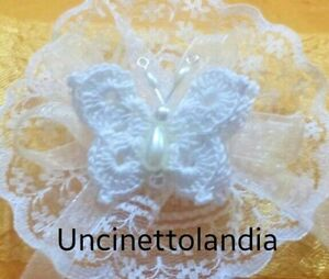 Segnaposto Matrimonio Uncinetto Fai Da Te.Farfalla Bianca Bomboniera Fai Da Te Uncinetto Segnaposto