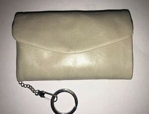 Hobo-Brand-5x3-Lacy-Coin-Keychain-Leather-Mini-Wallet-Linen-NWT-Retail-68