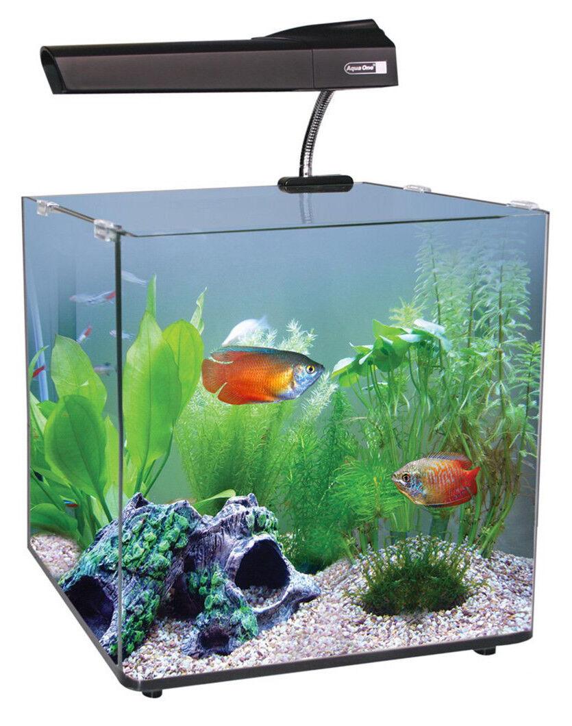 AquaNano 40 Glass Aquarium 55L Complete Stunning Fish Tank Set LED Filter Heater