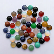 Natural gemstone mixed round CAB CABOCHON 10x10mm stone beads Wholesale 50pcs