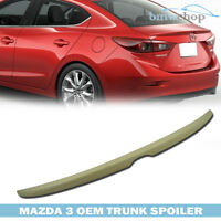 Stock In La Unpainted Mazda3 Axela 4dr Sedan Oe-type Tail Rear Trunk Spoiler
