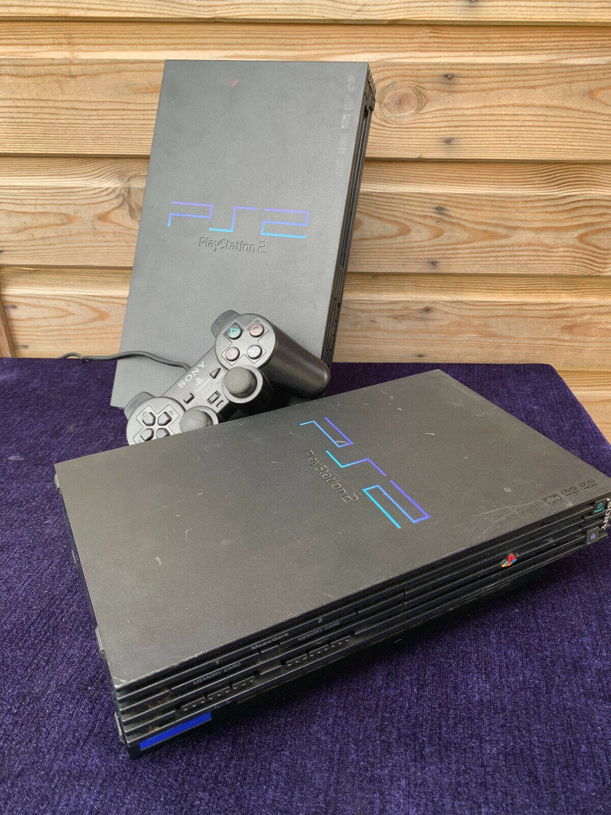 Bundle of Vintage Play Station 2 PS2 Video Games Console Controller For Spares