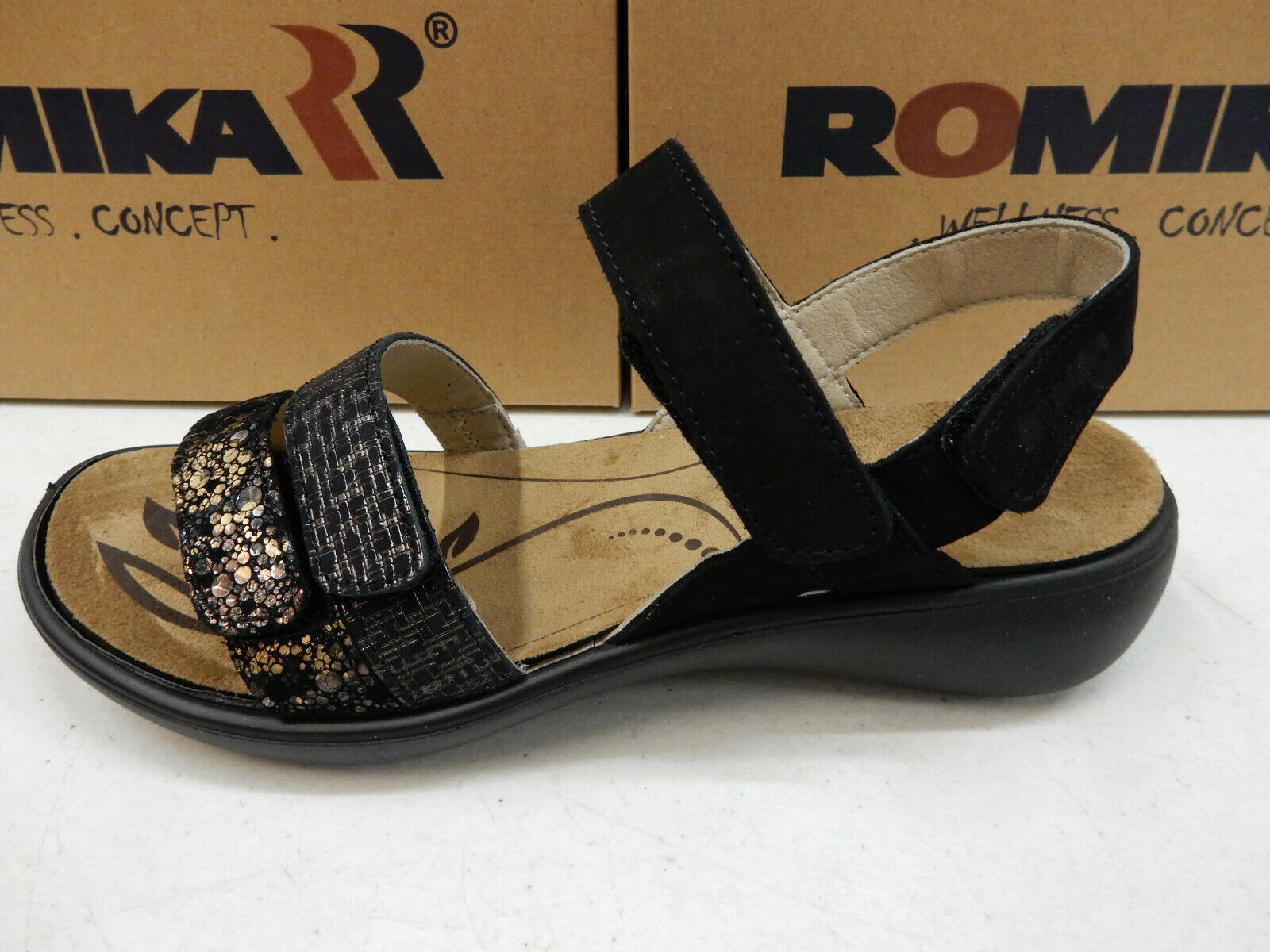 Romika Mujer Ibiza 103 Negro Combi talla