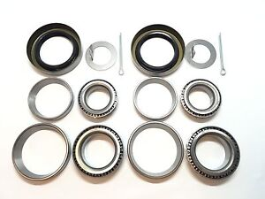 2-Trailer-Hub-Bearings-Kits-L68149-L44649-for-3500-1-719-039-039-Spindle-84-Axle