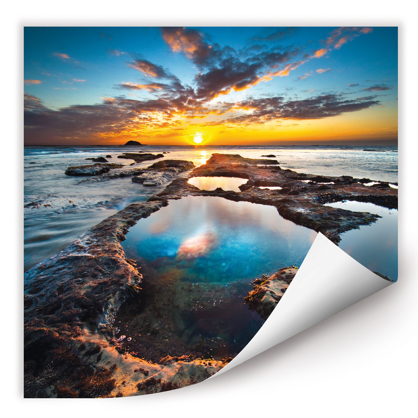 Wallprint Wallprint W - Maori Bay blau