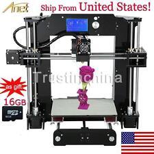 Anet A6 3D Printer Reprap Prusa i3 High Precision Acrylic Frame DIY+16G SD Card