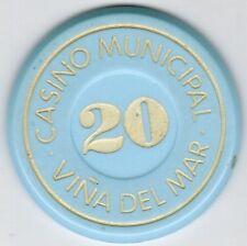 Chile Chip Token Casino de Viña del Mar 20 Celeste