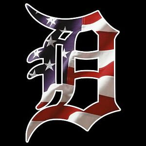 Details About 6 10 12 18 24 Detroit Tigers D American Flag Car Window Wall Decal Sticker