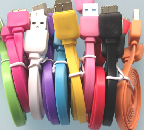 3ft flat noodle USB 3.0 Data Sync charger Cable FOR samsung galaxy s5 & note 3