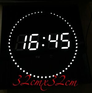 LED-Horloge-murale-datum-temperatur-et-DWS-Rond-Affichage-des-secondes-GRAND
