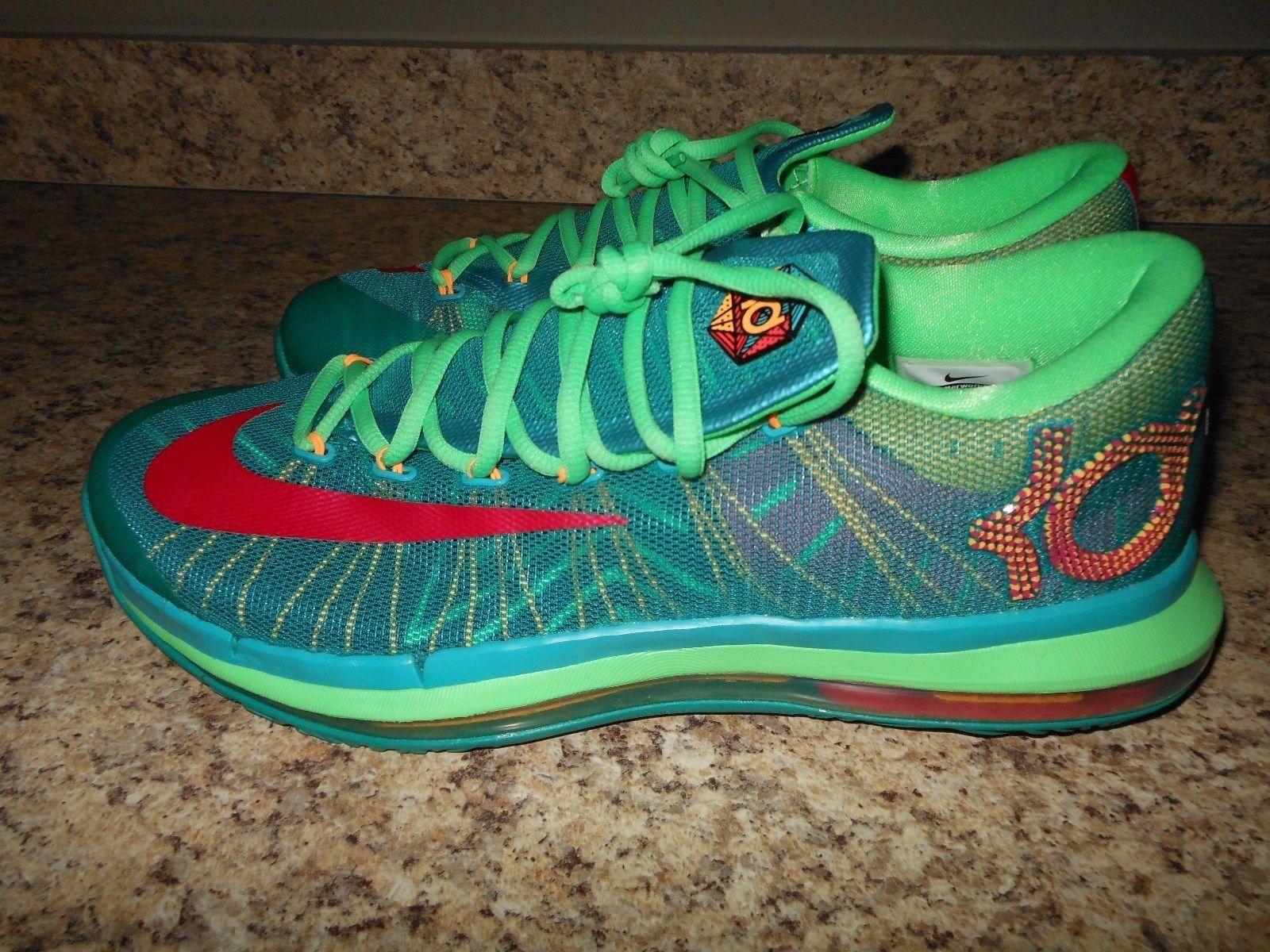 Nike KD VI 6 Elite hombre zapatos Turbo lucido Verde / rosa nightshield lucido Turbo cómodo 60c2a3
