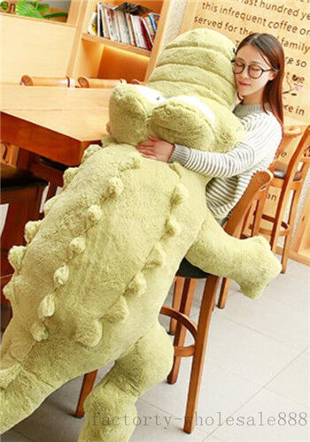 Giant Big Plush Crocodile Stuffed Animal Soft Toy Huge Cushion Pillow Gift 170cm