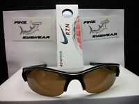 Finz Polarized Golf Sunglasses Black/amber Lens + Nike Rzn White