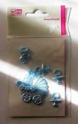 efco Wachsdekor Wachsornamente Baby Junge hellblau 6 Stück//Packung*Kerze basteln