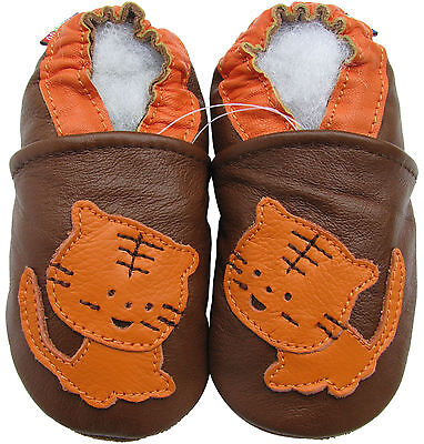 Boys Shoes Soft Sole Leather Baby /& Toddler Booties ExcavatorOceanblue 18-24M