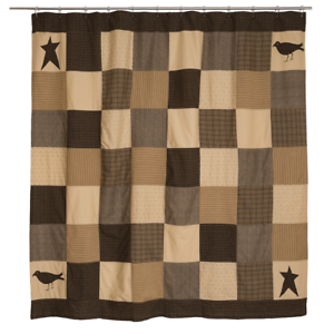 Image Is Loading Kettle Grove Patchwork Shower Curtain Cotton Country Primitive
