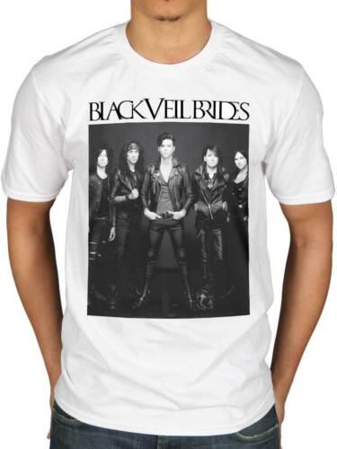 Official Black Veil Brides Blackout T-Shirt Band Inferno Skull Stripes Church