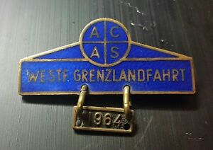 ACAS Broche WESTF grenzlandfahrt 1964 émaillé 52x35mm Wd7OLXrJ-08023416-924536181