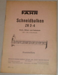 Agriculture/farming Parts Catalog Drive Schneidbalken Zr 2-4 High Medium And Jigsaw Blades Downcut