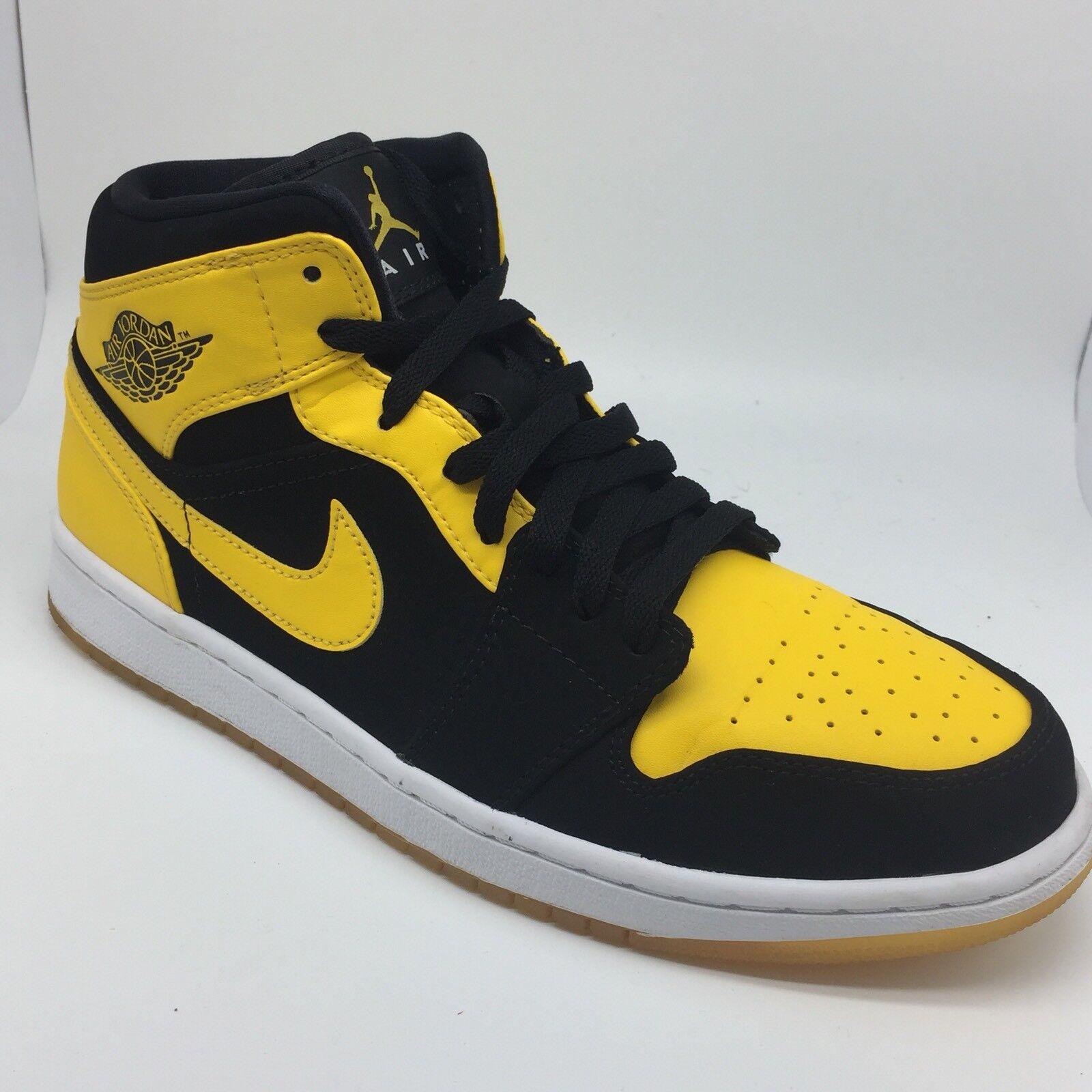new style c1169 1e116 Nike Air 1 Jordan 1 Air nuevo amor negro amarillo viejo amor criados  cómodos zapatos nuevos para hombres y mujeres, el limitado tiempo de  descuento f651bd