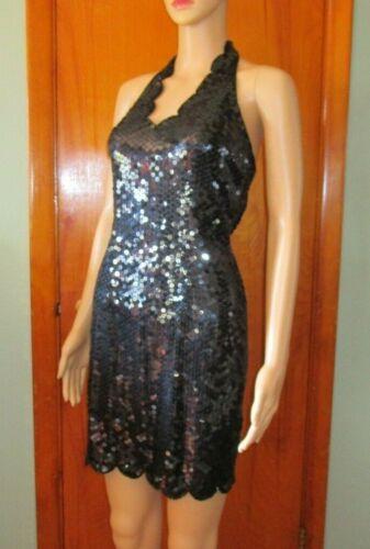 Vtg CACHE 90s Little Black Dress Sequins, Beaded w