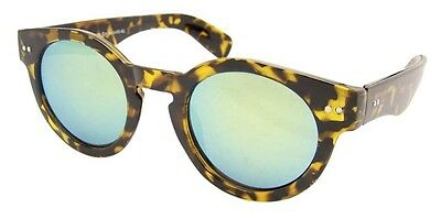 Premium Thick Round Frame Key Hole Steampunk Revo Mirror Lens 50s Sunglasses VTG