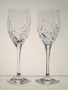 PREVIEW-MIKASA-Wine-Glasses-8-1-4-034-SET-of-SIX-Cut-Swirl-on-the-Bowl-Hex-Stem