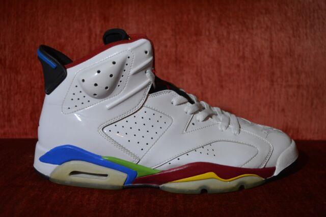 new product 01faf 2c90e WORN 2X Nike Air Jordan VI 6 Retro BEIJING OLYMPIC WHITE RED GREEN BEAN 11.5