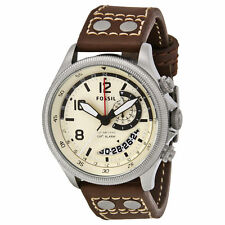 Fossil Men's Recruiter Brown Leather Watch, 50 Meter WR, Alarm,    FS5043  ***