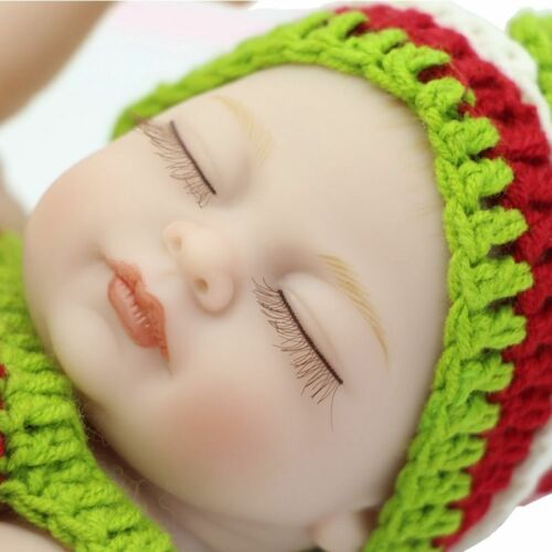 Lifelike Silicone Sleep Girl Reborn Baby Doll+Clothes Newborn Dolls 11 Inch Mini