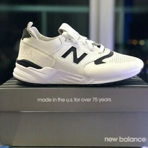 NEW BALANCE 999 WHITE/BLACK LEATHER