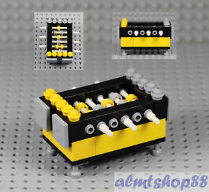LEGO-Foosball-Table-Yellow-Furniture-Minifigure-Scale-Soccer-Min-City-Town