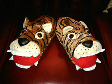 Super Size Small 5 to 8 Tiger Head 3D Padded Slippers Fab Gift BNWT