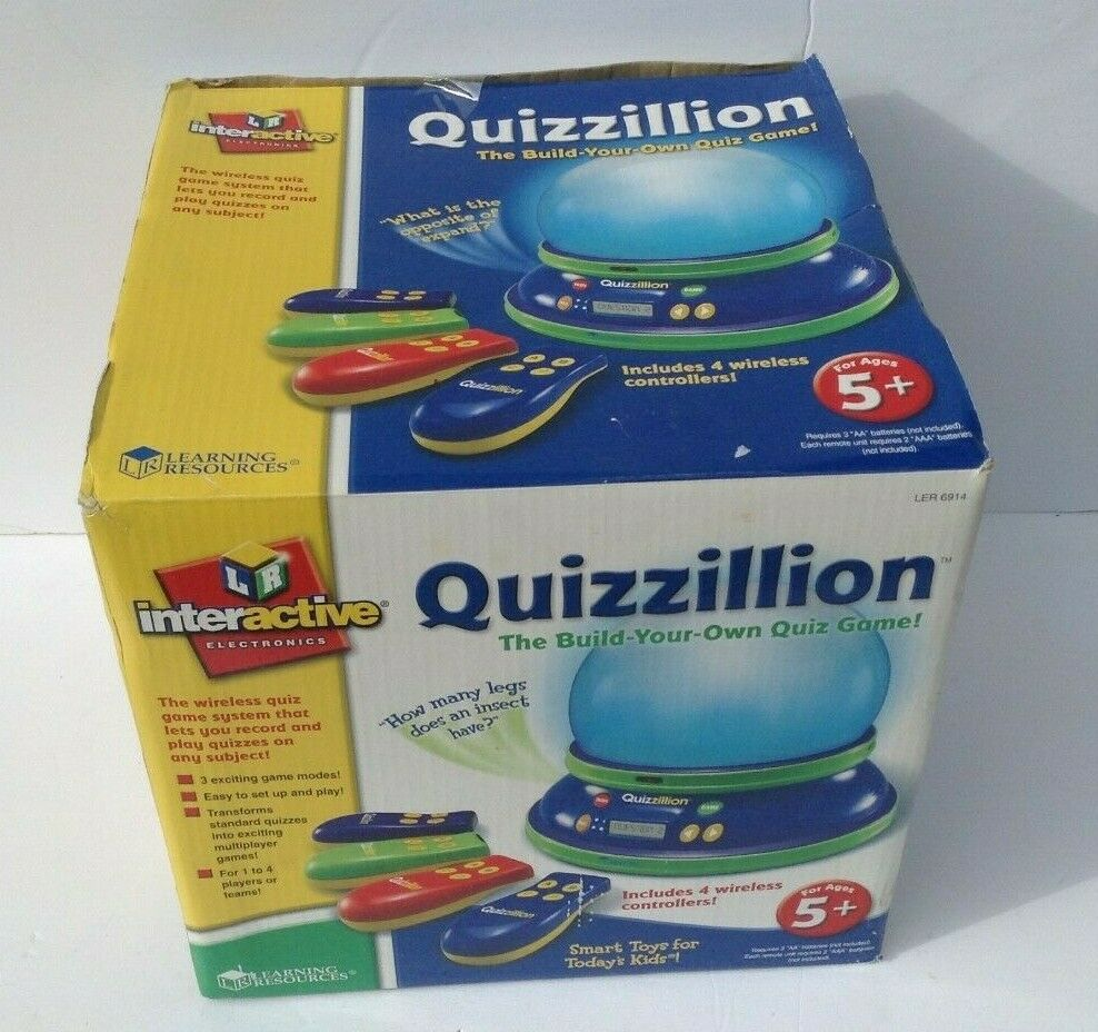 Learning Resources LER6914 Quizzillion Build Your Own Quiz Game
