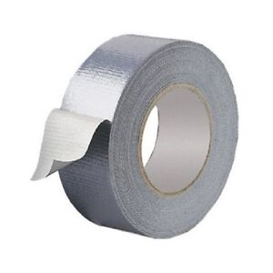 Strong-Duct-Gaffa-Gaffer-Waterproof-Cloth-Tape-Silver-50mm-x-50-Meter-Roll