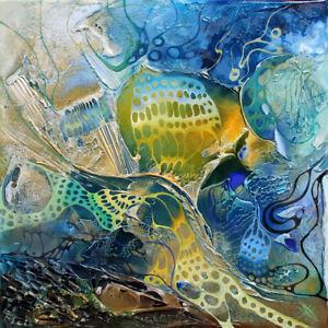 HANDGEMALTES-UNIKAT-Strukturgemaelde-034-BLUE-PLANET-034-Art-von-Bozena-Ossowski
