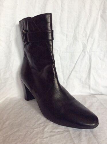 8 tamaño cuero Clarks de negro Botines XfxSqIw51