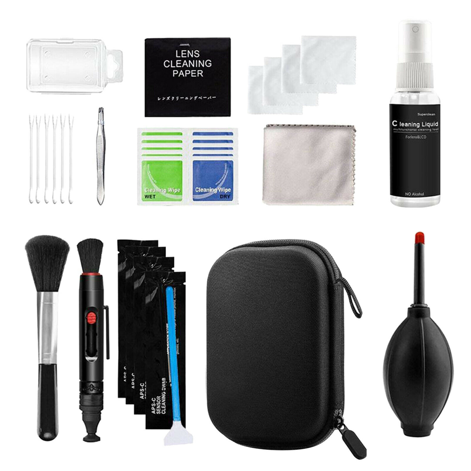 Professional Camera Cleaning Kit for DSLR Cameras + APS-C Cleaning Swabs