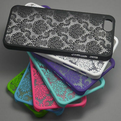 For iPhone8 X 6 6 Plus 5 5S 4 5C Rubberized Damask Pattern Matte Hard Case Cover